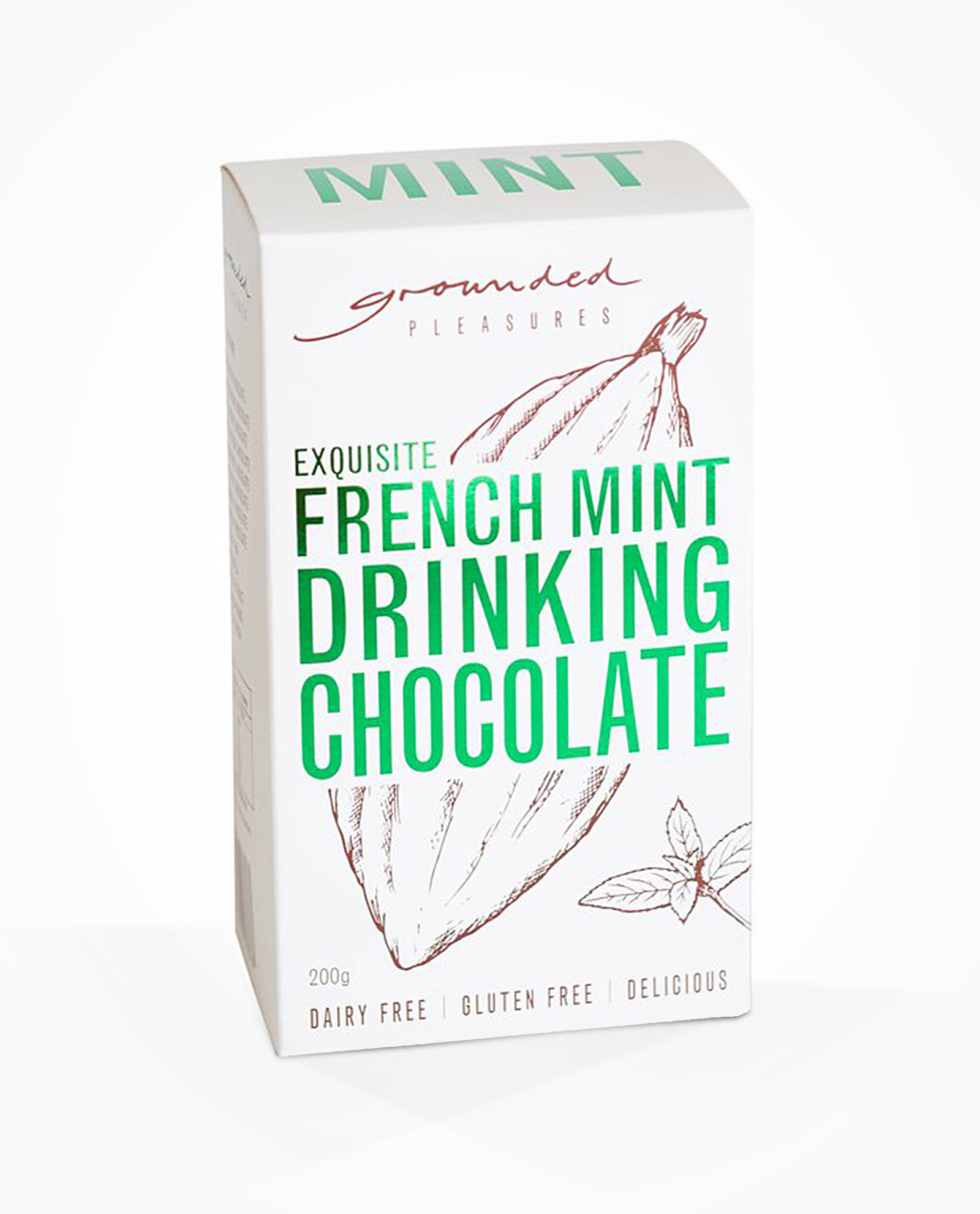 grounded pleasures french mint drinking chocolate