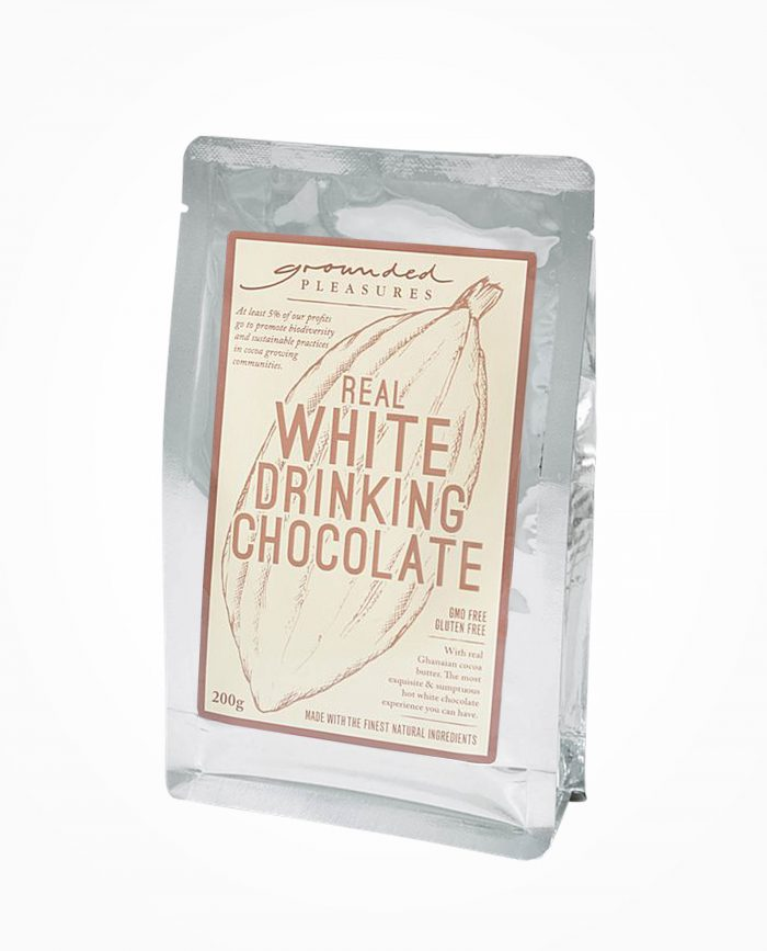white drinking chocolate